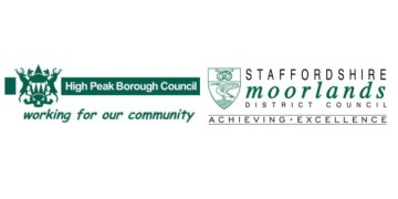 High Peak Borough Council and Staffordshire Moorlands District Council logo